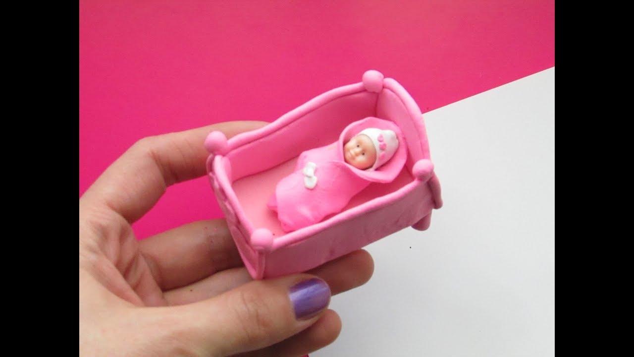 Кроватка для куклы своими руками. Поделки своими руками из легкого пластилина.