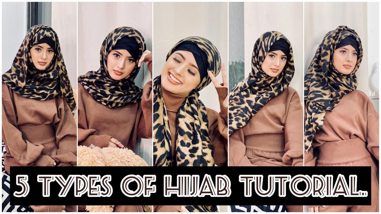 5 Types of Hijab Tutorial | Arishfa khan
