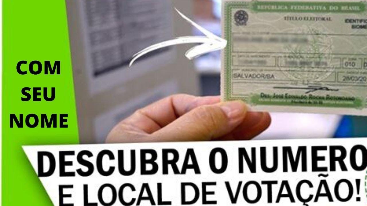 Como descobrir o NÚMERO DO TITULO DE ELEITOR e o local de votação ON LINE. Link na descrição.