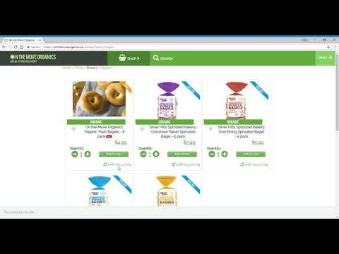 On The Move Organics - How to Add, Edit, and Remove Recurring Items