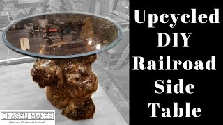 DIY - Upcycled Railroad Side Table