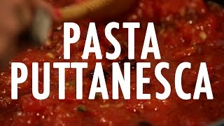 Cat De Orio Cooks: Pasta Puttanesca!