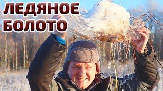 Рыбалка в ледяном болоте Готовлю на гриле Weber go Anywhere для друзей