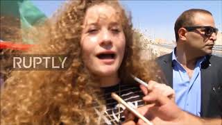 State of Palestine: Ahed Tamimi joins Khan Al-Ahmar protest
