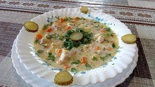 Очень Вкусный ,Сытный Восстанавливающий от похмелья Суп из Курицы, Чечевицы и Зелени .