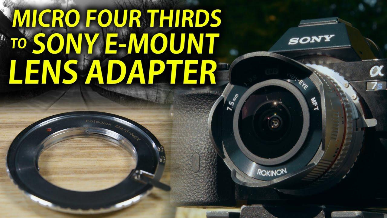 Lens Adapter for Olympus Panasonic MFT M4//3 M43 Lens to Sony E mount NEX Camera