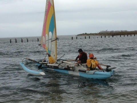 OC4 Outrigger Canoe Sailing Werribee to Sandridge