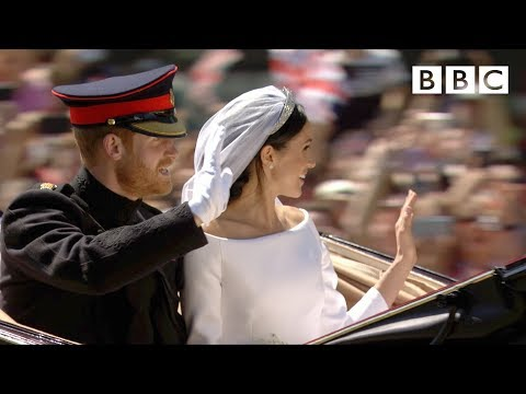 Dress, vows, kiss! Prince Harry and Meghan Markle married at Windsor - The Royal Wedding - BBC