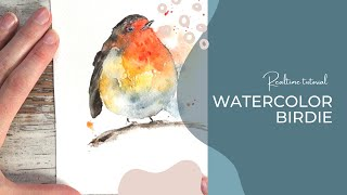Painting a Loose Watercolor Robin
