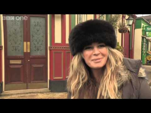 On set with...Kierston Wareing  EastEnders  BBC One Christmas 2012