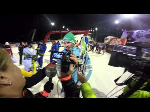 Slalom WC in Madonna di Campiglio. Felix interview