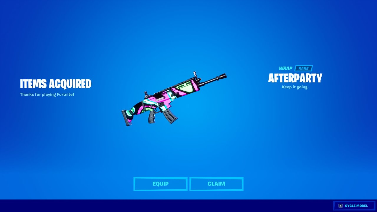 FREE WRAP NOW in FORTNITE! (Afterparty)