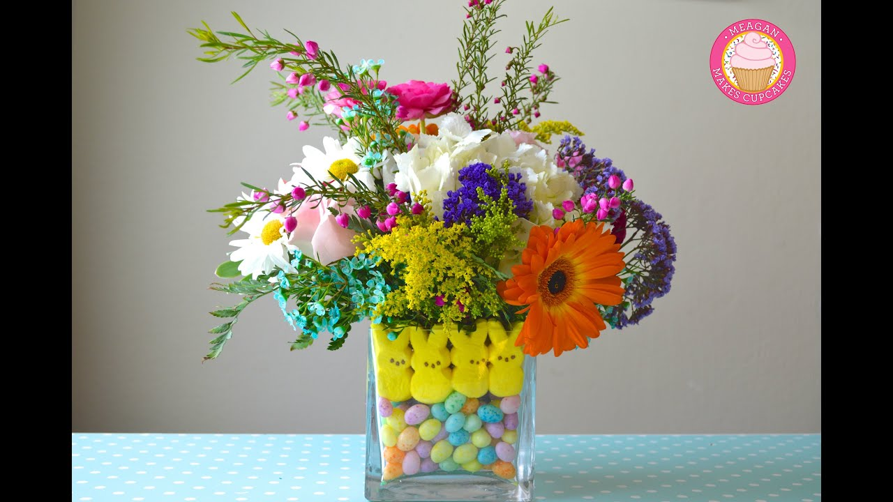 Peeps easter flower centerpiece youtube reviewsmspy