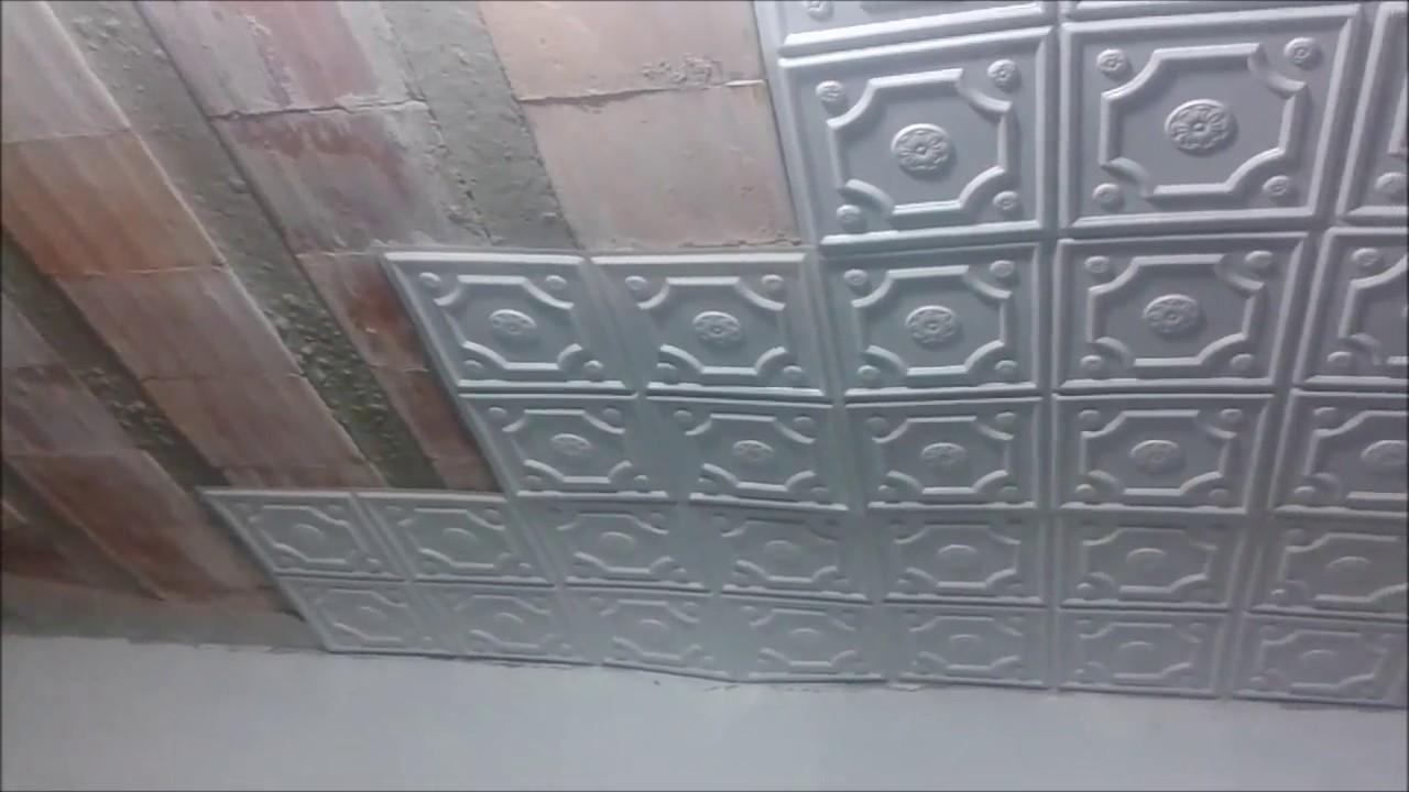 Reboco do teto caiu Soluo Placas decorativas forrorama