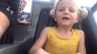 Chloe's first roller coaster