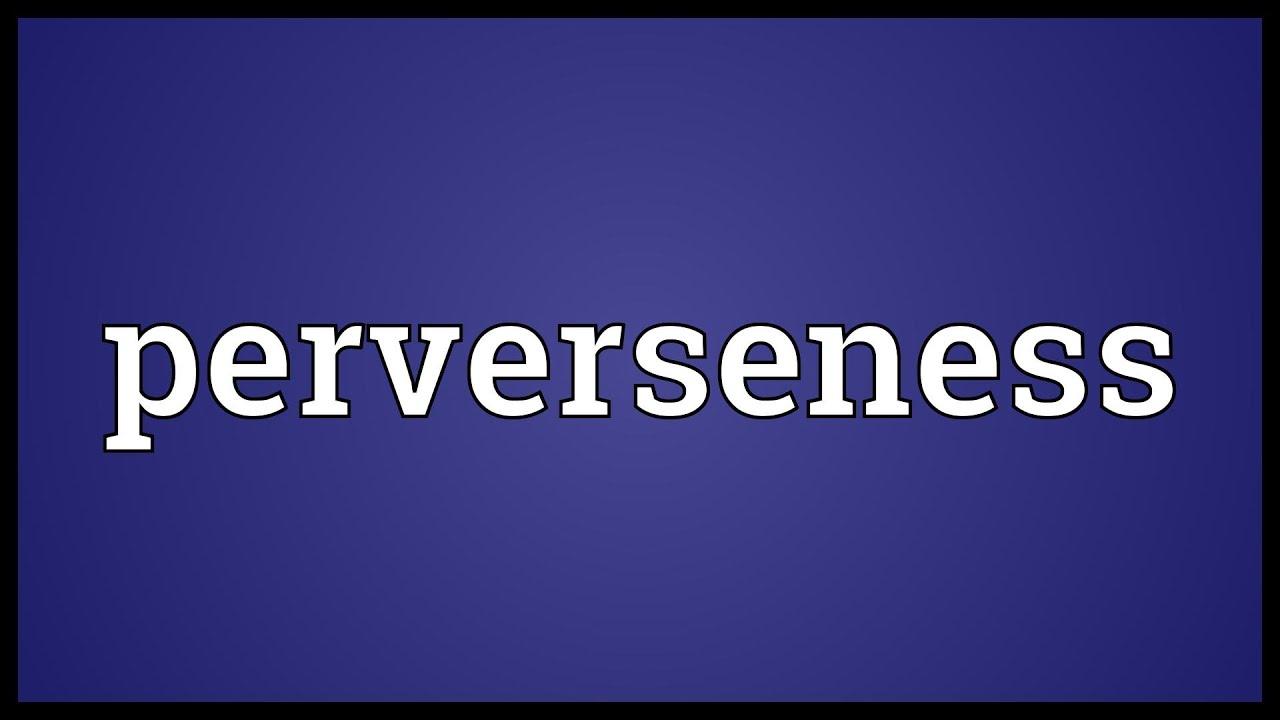 define perverseness
