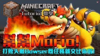dr wings minecraft 教學 命令方塊 救回peach 幫mario打敗bowser by theredengineer