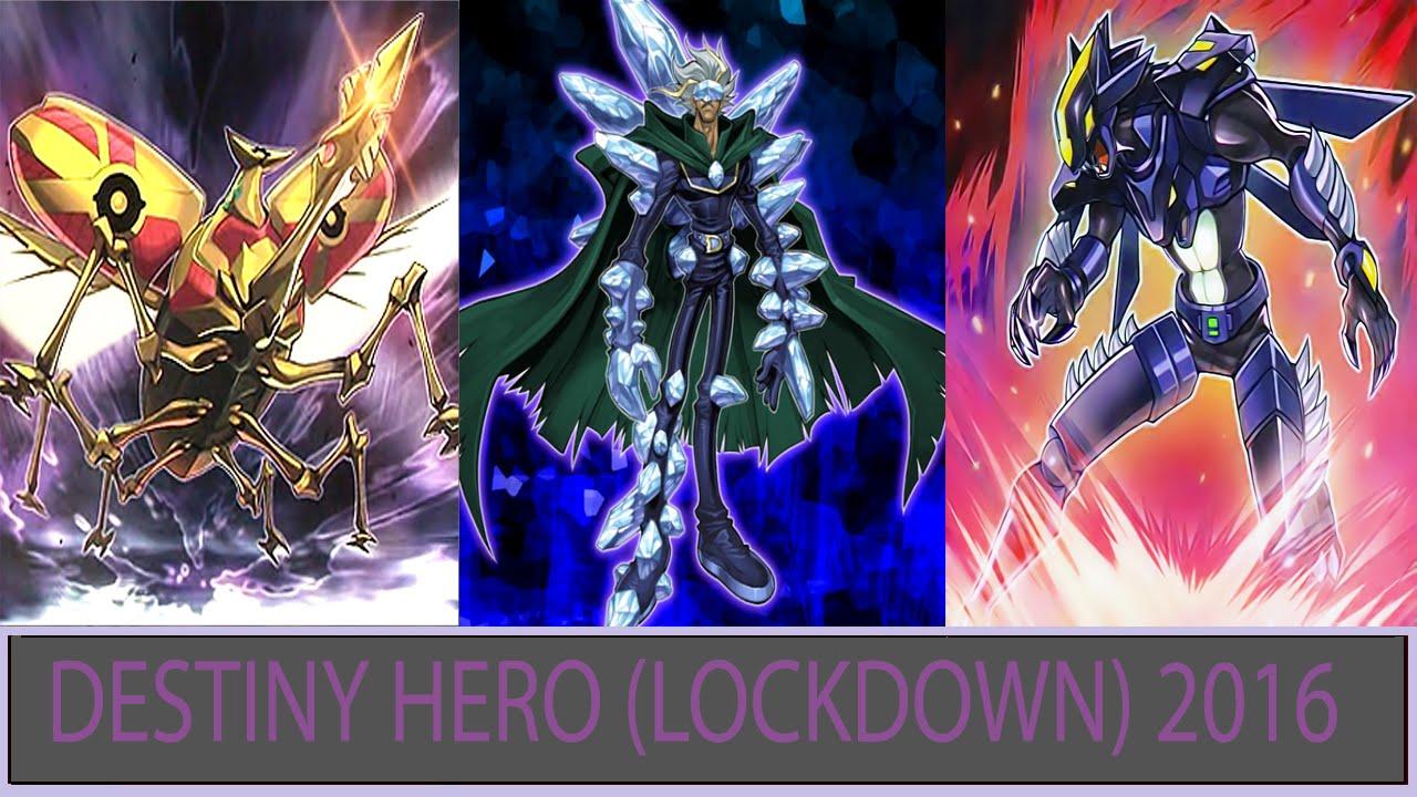 [YGOpro] DESTINY HERO (LOCKDOWN) DECK 2016
