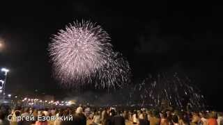 Праздники Испании Фейерверк в Alicante на пляже риелтор Сергей Езовский 34 663 945 750