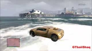 GTA 5 Mods - Jesus Driving A Bugatti On Water, God Mode, SuperJump + Flying Cars