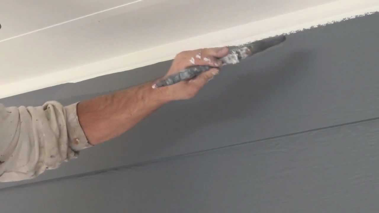 how to cut in paint edges and get a straight ceiling line when