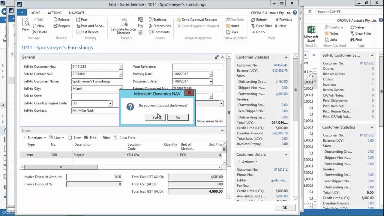 Microsoft Dynamics NAV 2016 Demo: Workflow