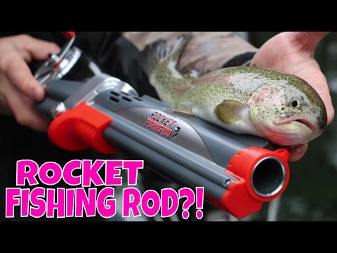 Rocket Fishing Rod Catches Fish! Fishing Challenge!
