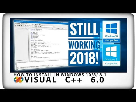 [2017 DEC] How To Install Microsoft Visual C++ 6.0 in Windows 10 / 8 / 8.1.