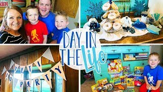 Day In The Life Vlog of a Stay at Home Mom | Fifth Birthday Party