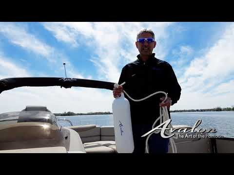 11) How to Use Fenders to Protect the Rub Rail While Docking | 2017 Avalon Luxury Pontoons