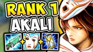 ABUSING RANK 1 CHALLENGERS AKALI TOP STRATEGY! (NEW BEST AKALI BUILD?!)- League of Legends
