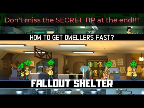 FALLOUT SHELTER How To Get More Dwellers FAST?!?! (Special Breeding Tip Included)
