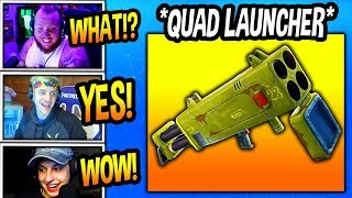 NINJA & STREAMERS REACT TO *NEW* QUAD LAUNCHER! + GAMEPLAY FOOTAGE! Fortnite BR