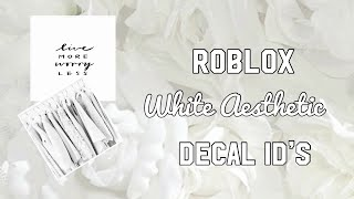 Roblox White Aesthetic Decal ID's
