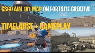 CSGO AIM 1V1 ON FORTNITE CREATIVE MODE , GAMEPLAY 1V1 MAP!