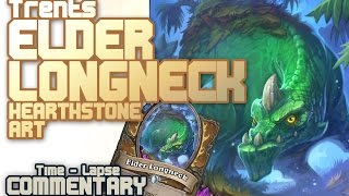 Hearthstone Art - Elder Longneck (Time lapse with commentary)