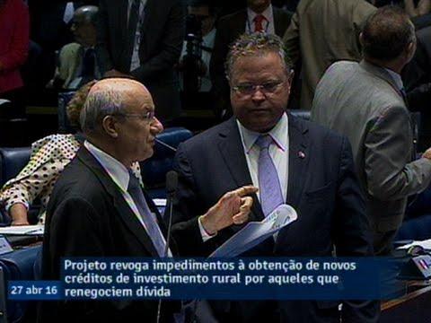 Projeto aprovado pelo Senado permite novo investimento a agricultor que renegociar dívida