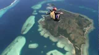 Отказ парашюта и отцепка над океаном на Фиджи *см.на весь экран