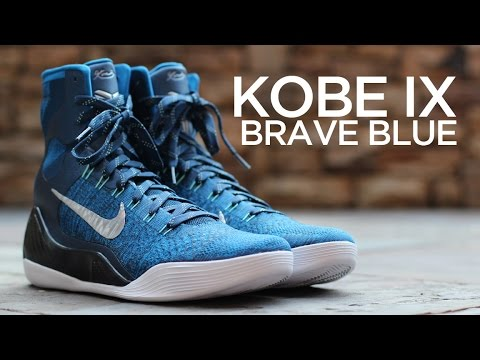huge selection of ab7fe b19f7 Closer Look  Nike Kobe IX Elite - Brave Blue - YouTube