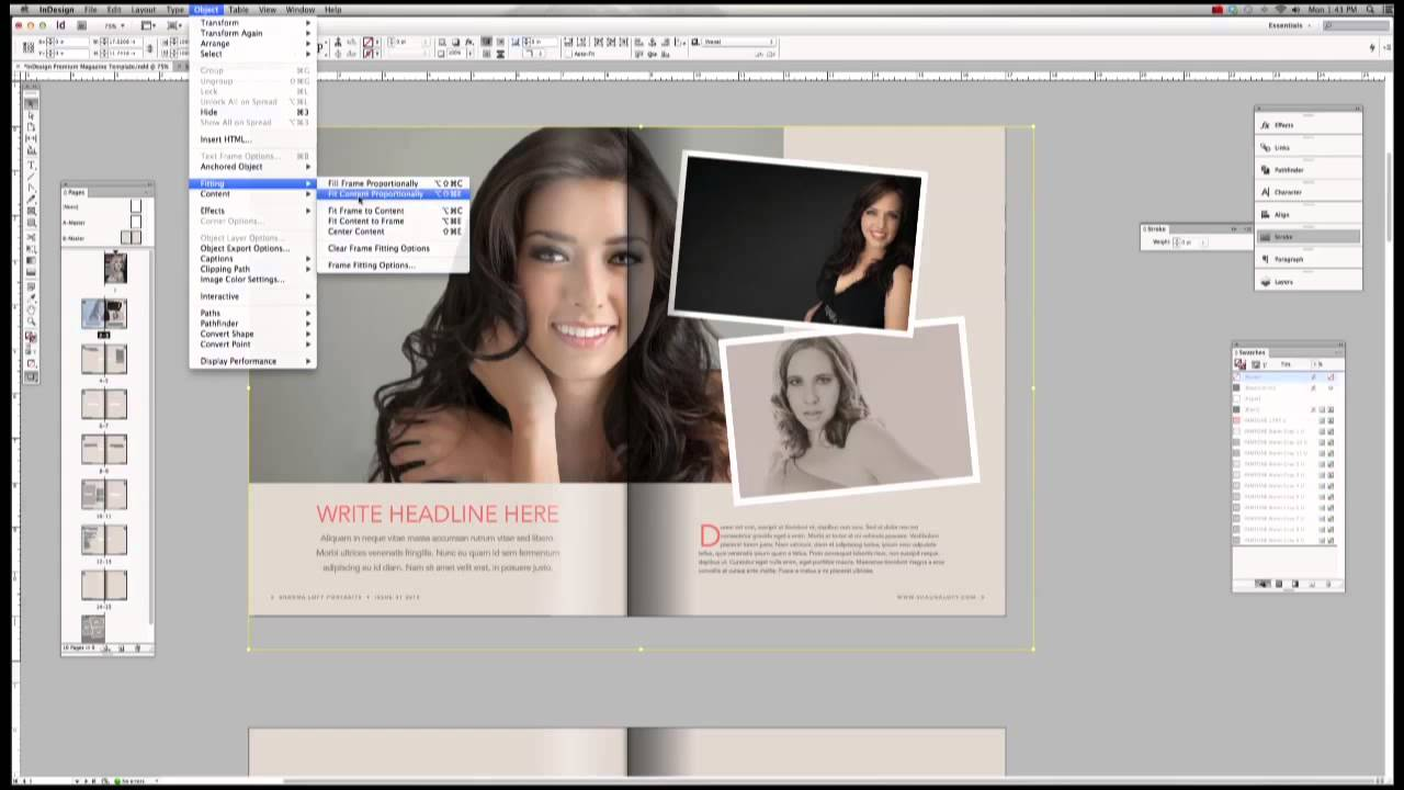 Tutorial: Premium Magazine Template for Adobe InDesign - YouTube