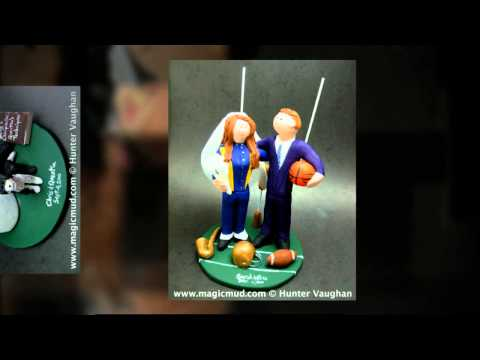 football-wedding-cake-topper