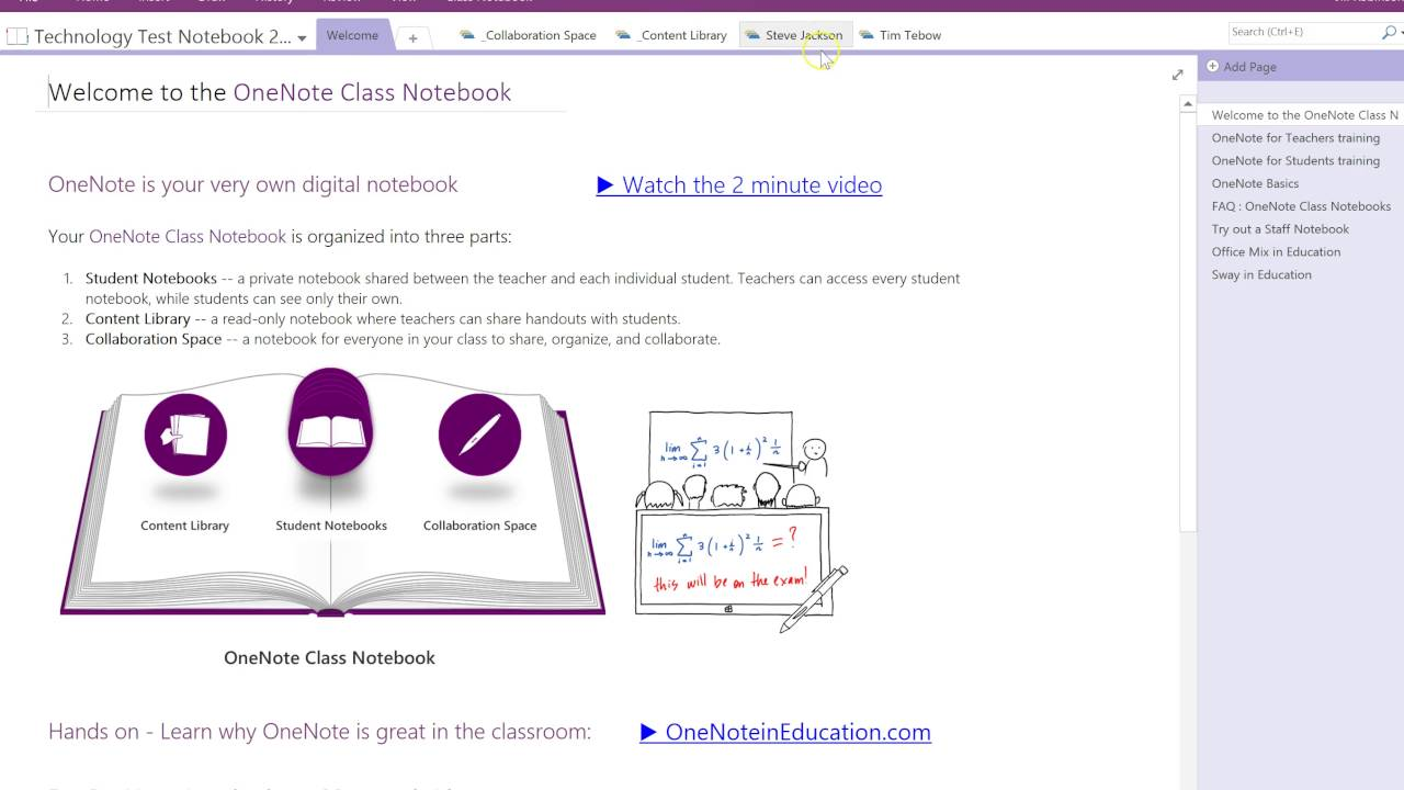 OneNote Class Notebook - Distribute a Content Library Page to All Students