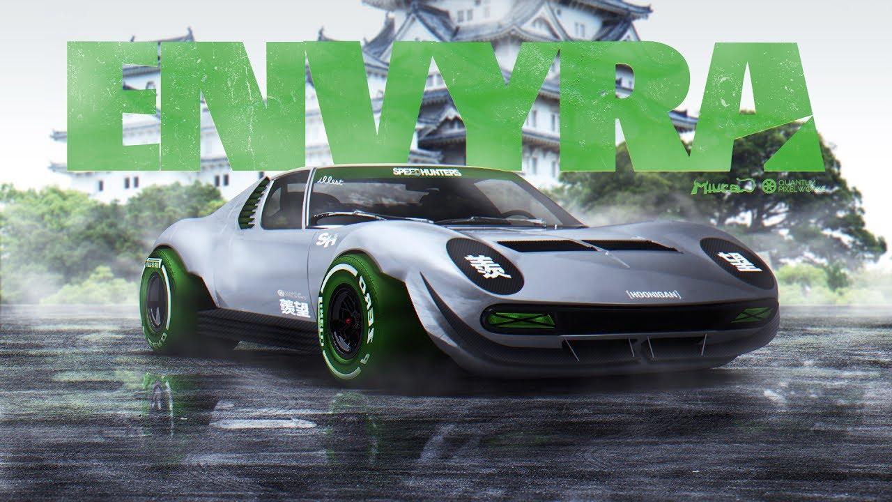 Envyra Lamborghini Miura Timelapse Photoshop Virtual Tuning