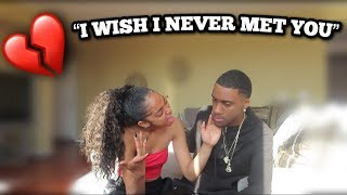 I WISH I NEVER MET YOU PRANK ON GIRLFRIEND (SHE CRIES)