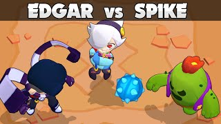 🔥 EDGAR vs SPIKE 🔥 1VS1 🔥 Brawl Stars