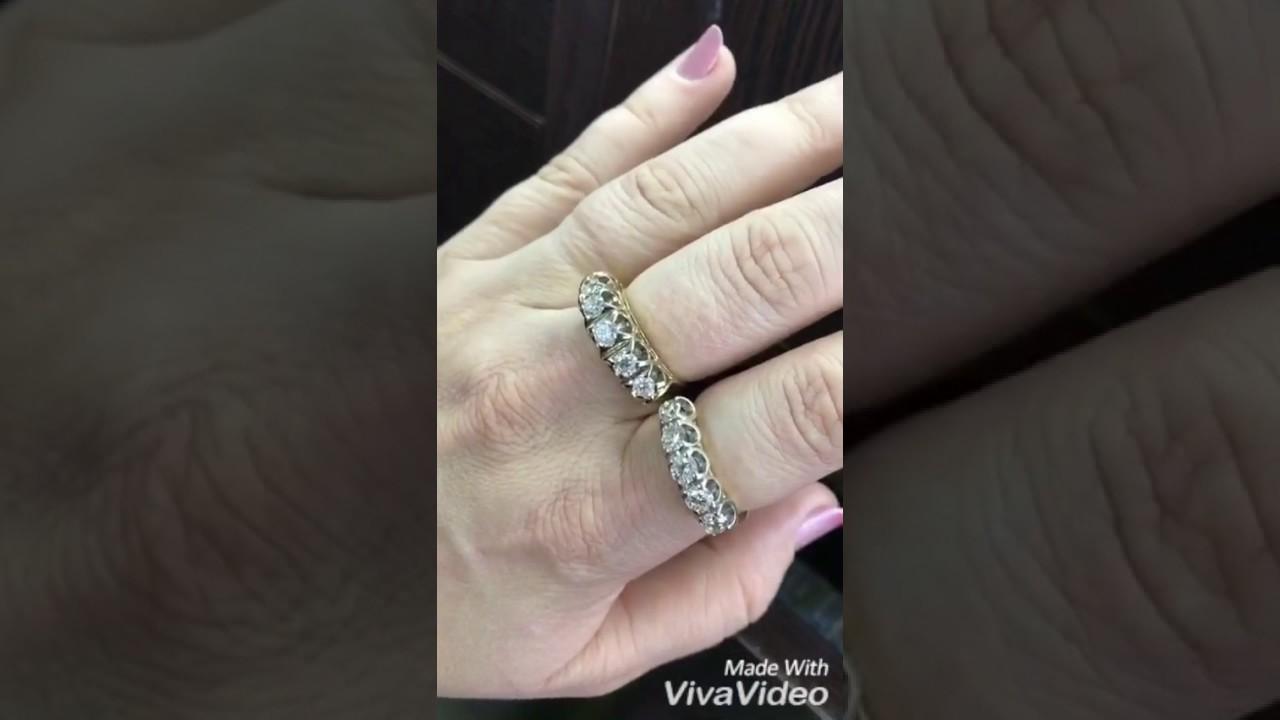 Кольцо с бриллиантами для помолвки. Артикул: dgm00052 1 - YouTube