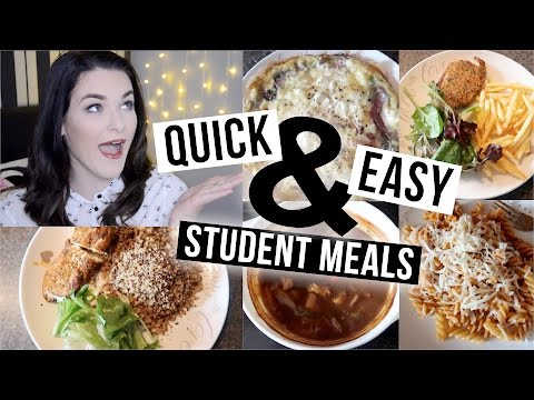5 Quick & Easy Meals for Students!! | ohhitsonlyalice