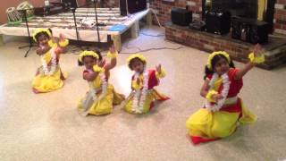 Megher Kole Rode Hesechhe - Dance performance by - Jiya, Sheisha, srisja and Amiti
