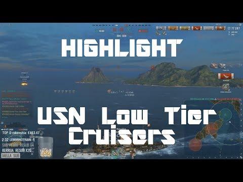 Highlight: Tech-Tree Thursday - Low Tier USN Cruisers