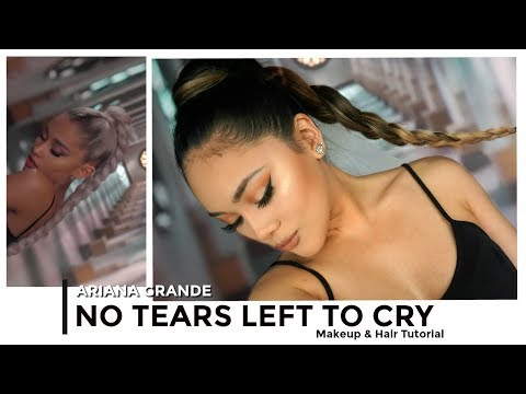 NO TEARS LEFT TO CRY Ariana Grande Inspired Makeup & Hair Tutorial 2018 ♥ | itsforeverCLO